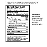 Tresomega Nutrition Organic Healthy Cooking Oil Combo Pack, Virgin and Refined Coconut Oil, 54 Ounce (Pack of 2)