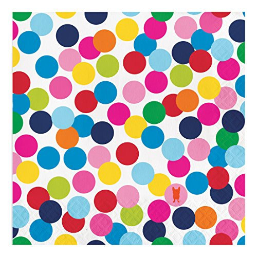 French Bull Birthday Dots- 3-Ply Luncheon Napkins, 20-Count - 322131]()