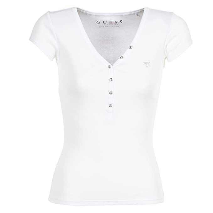 GUESS Camiseta Blanca Lola (S - Blanco)