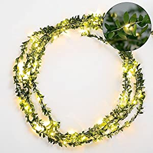 Omika Ivy Green Leaf Garland Fairy Lights 25
