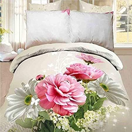 Copripiumino Matrimoniale Floreale.Cushionmania Effetto 3d Matrimoniale King Size 3 Pezzi Set Di