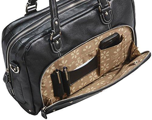 Clark & Mayfield Morrison Leather Laptop Handbag 18.4'' (Black) by Clark & Mayfield (Image #3)