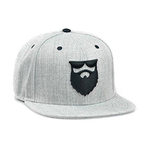 OG Beard Logo Snapback Hat Heather Grey