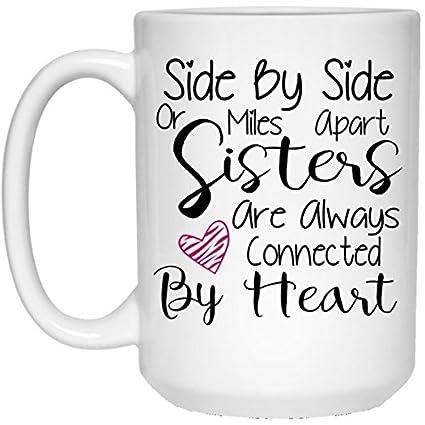 109203fdb594c Amazon.com: SAYOMEN - Coffee Mug, Side By Side Or Miles Apart ...