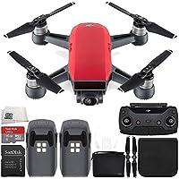 DJI Spark Portable Mini Drone Quadcopter (Lava Red) + DJI Spark Remote + Bag Essential Bundle