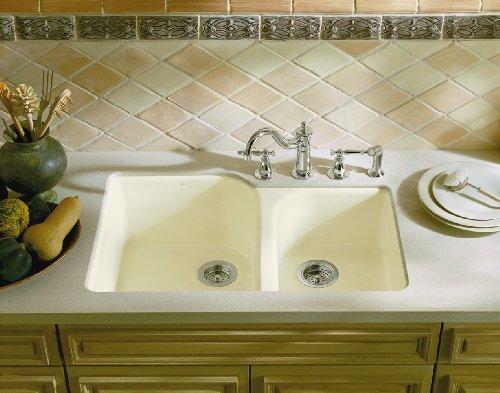 Kohler K-5931-4U-0 Executive Chef Undercounter Kitchen Sink, White by Kohler (Image #2)