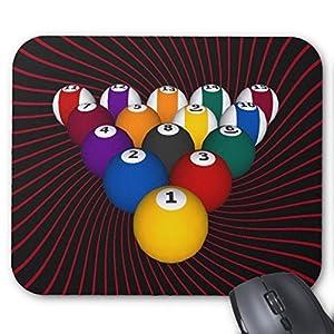 Billiard/Pool Kugeln: Custom Mousepad: Billard Maus Pad