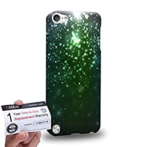 Case88 [Apple iPod Touch 5] 3D impresa Carcasa/Funda dura para & Tarjeta de garantía - Art Fashion Emerald Green Particle