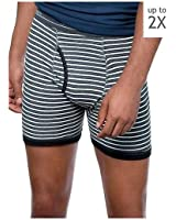 Hanes Red Label Men's Plus-Size 4-Pack FreshIQ No Ride Up Striped Boxer Briefs