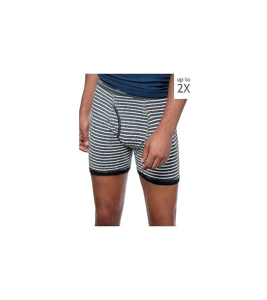 Hanes Red Label Men's Plus-Size 4-Pack No Ride Up Striped Boxer Briefs 7347P4
