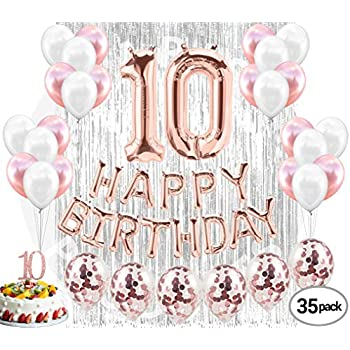 10th Birthday Decorations 10 Party Supplies