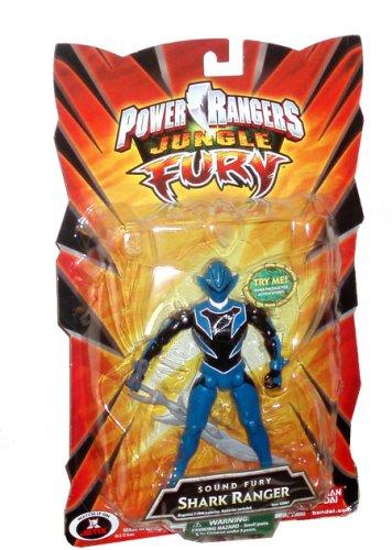 Sound Fury Shark (Power Rangers Jungle Fury 6 Inch Tall Figure with Action Sound - Sound Fury Blue Shark Ranger with Shark Blade Plus Shock Sensor Sound)