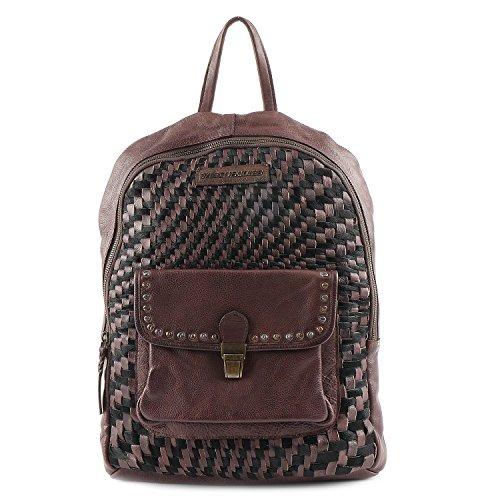 Taschendieb Wien Tasche - Cow Weaving Backpack & Shoulderbag - Schoko