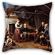 Loveloveu Pillow Cases 20 X 20 Inches / 50 By 50 Cm(double Sides) Nice Choice For Bf,kids Room,girls,girls,play Room,deck Chair Oil Painting Bengt Nordenberg - The Veterans (From Days Gone By)