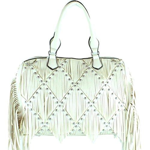 Corssbody Colors Boston Beige and Fringe Handle 6 Western Women's Handbag in wqO0PEzHn