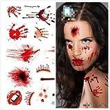 NPLE--Halloween Horrible Decor Wound/Scab Simulation Blood Injury Scar Tattoo Sticker