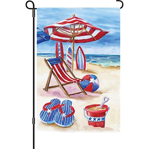 Premier 51751 Garden Illuminated Flag, Patriotic Beach, 12 by 18-Inch for $<!--$10.50-->