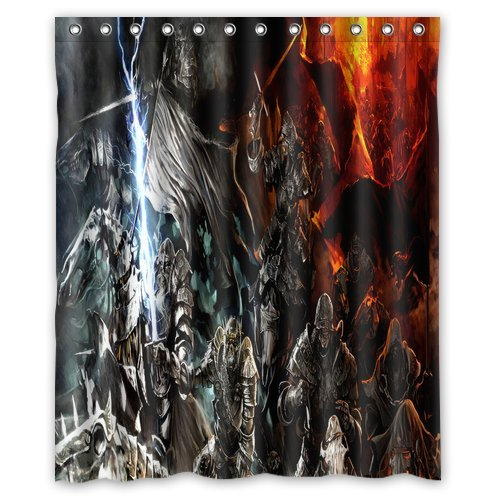 (Brand New Stylish Design Monster War Shower Curtain Bathroom Waterproof Drapery/Panels/Treatment Polyester 60