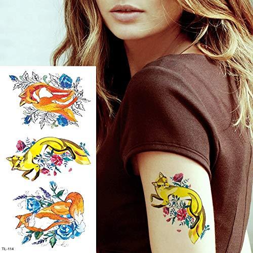 tzxdbh Zorro Animales Tatuajes temporales para Mujeres niños ...