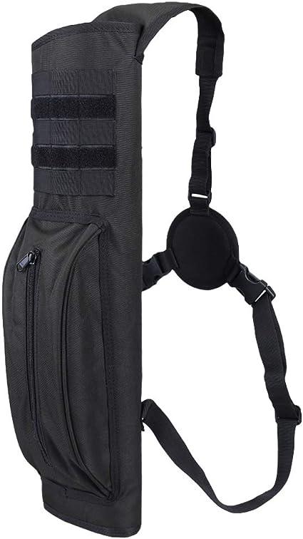 Hunting Arrow Quiver Archery Bow Holder Back Belt Bag Black Adjustable Pouch
