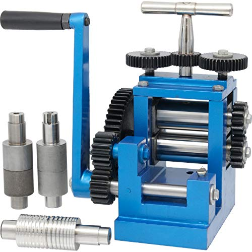 """3"""" 80mm Rolling Mill & 5 Metal Rollers Jewelers Tool"""