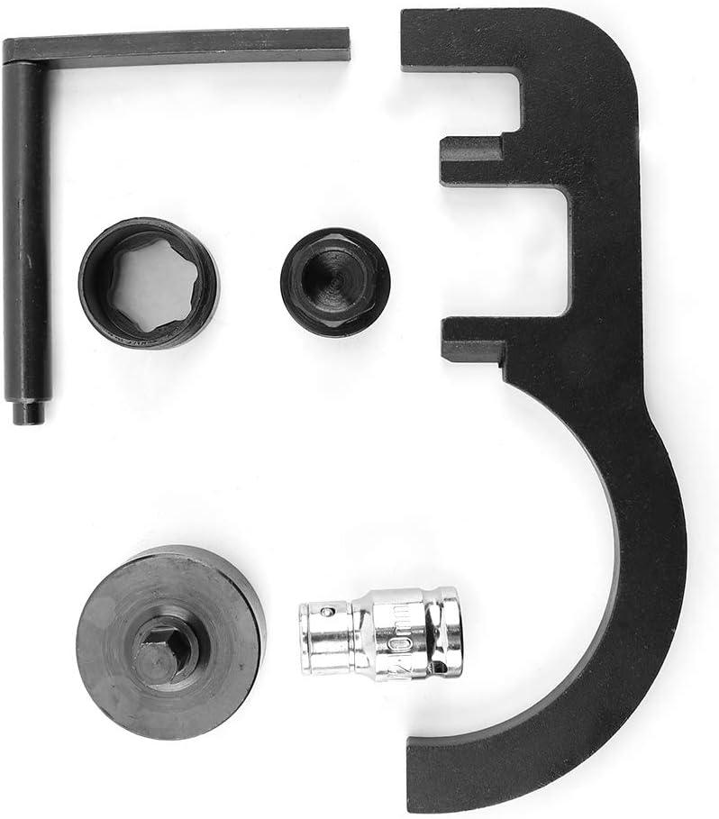 5pcs Timing Tool Petrol Engine Locking Kit Set Diesel Engine Chain Black /& Silver for N47 2007-10 116480 Engine Timing Tool