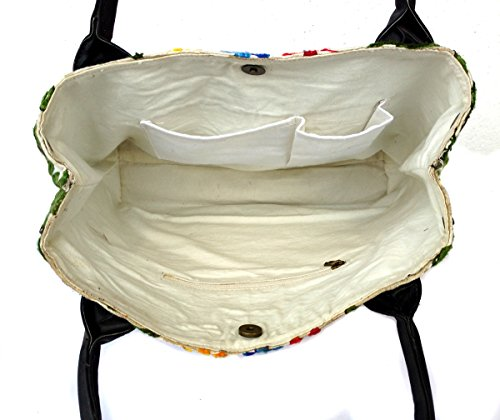 Lona blanco Handicrafts al de mujer Blanco Rastogi Bolso hombro para n4qvzaXw