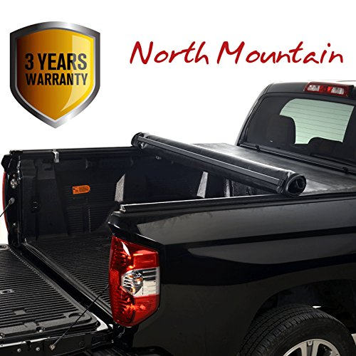 Clamp On No Drill Top Mount Assembly w//Rails+Mounting Hardware Fit 16-19 Toyota Tacoma Pickup 5ft Fleetside Bed North Mountain Soft Vinyl Roll-up Tonneau Cover