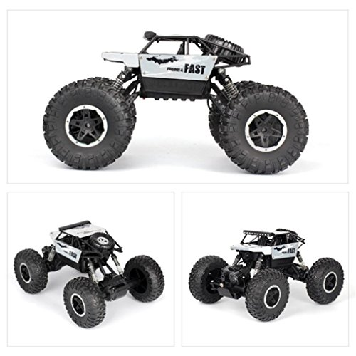 (Huphoon New P810 Cross-country RC Climbing Car 1/18 2.4G 4WD 15KM/h Alloy High Speed Off-Road Monster Truck (Silver))