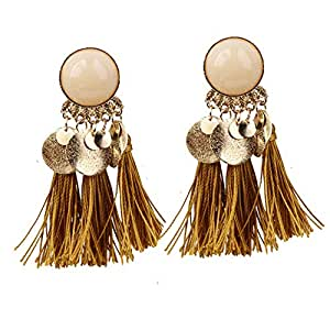 BIGBOBA Resin Fringed Bohemian Multicolor Earrings Anniversary Christmas Gifts Valentine's Day for Women Ladies Girls