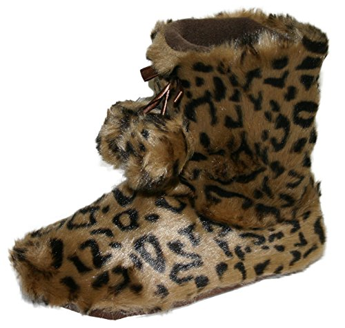 Dunlop - Botas para mujer Marrón - marrón leopardo