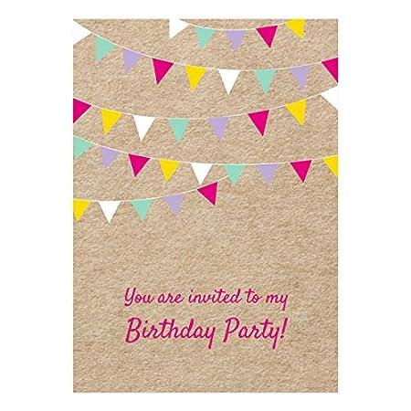 Invitaciones de cumpleaños en inglés (pack de 10 unidades ...