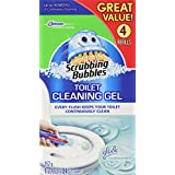 Scrubbing Bubbles Toilet Cleaning Gels Rainshower Value Pack - 1 Dispenser, 24 Toilet Gel Disks
