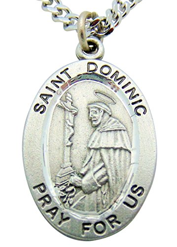 - Westman Works St Dominic Solid Pewter One Inch Saint Medal with Stainless Steel Chain