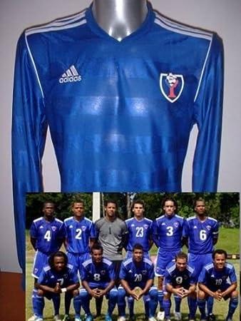 Adidas República Dominicana Manga Larga Camiseta Jersey fútbol Adulto XL Maglia - Camiseta de Mundial de Fútbol de Azul: Amazon.es: Deportes y aire libre