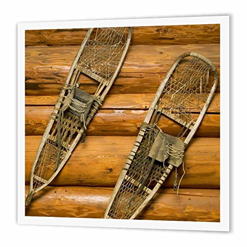 3dRose Old Snow Shoes, Winter, British Columbia-CN02 PCL0304-Paul Colangelo-Iron On Heat Transfer, 8 by 8-inch, for White Material (ht_76334_1)