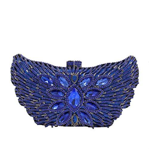 Bolsa De Embrague Bolso De Noche De Lujo Cristal De Diamante De Las Mujeres C