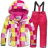 Baby Girls Boys Kids Winter Warm Outdoor Mountain Waterproof Windproof Snowboarding Skiing Jackets with Snow Ski Bib Pants US 12