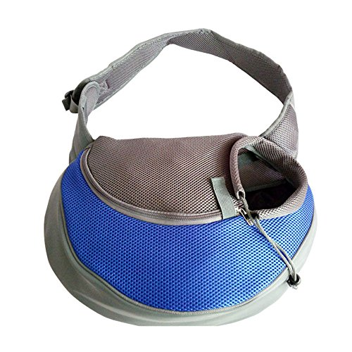 Pet Carrier Soft Dog Cat Rabbit Travel Sling Shoulder Bag (Blue, S, fits small animals less than 5lb) -  YUDODO, AMZ-U31001-BLU0S1