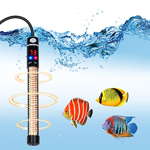 lychee Aquarium Heater Submersible Titanium Fish Tank Heaters with Intelligent LED Temperature Display and External…