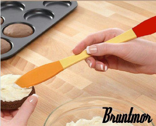 Bruntmor - Peanut Butter, Cheese and Jelly Spreader - Silicone Spatula