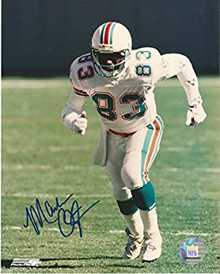 Mark Clayton Miami Dolphins Signed Autographed Action 8x10 Photo W/coa