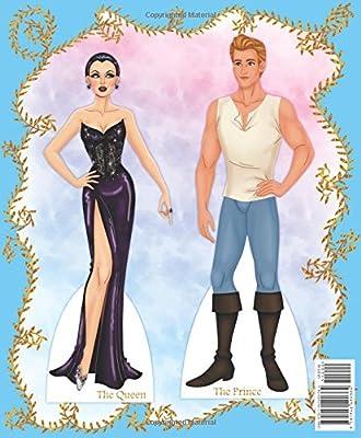 CINDERELLA Paper dolls Fairy Tale Fashion Queen Princess