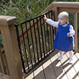 Cardinal Gates Stairway Special Outdoor Child Safety Gate /Model:SS30-ODWH-C /Designed for top of stairway use / Color: Black by Generic