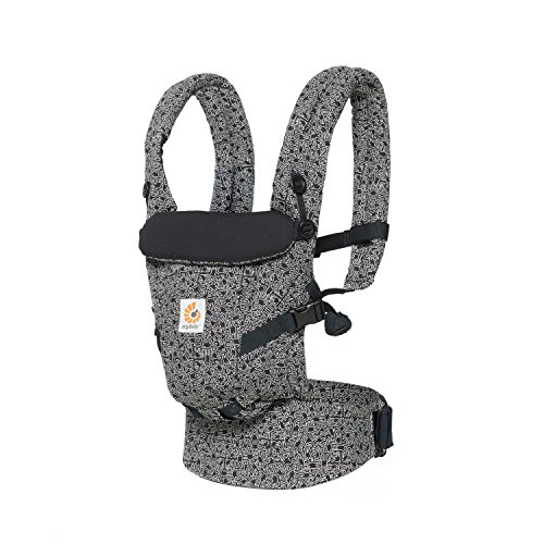 Ergobaby Adapt Award Winning Ergonomic Multi-Position Baby Carrier, Newborn to Toddler (Keith Haring - Black)
