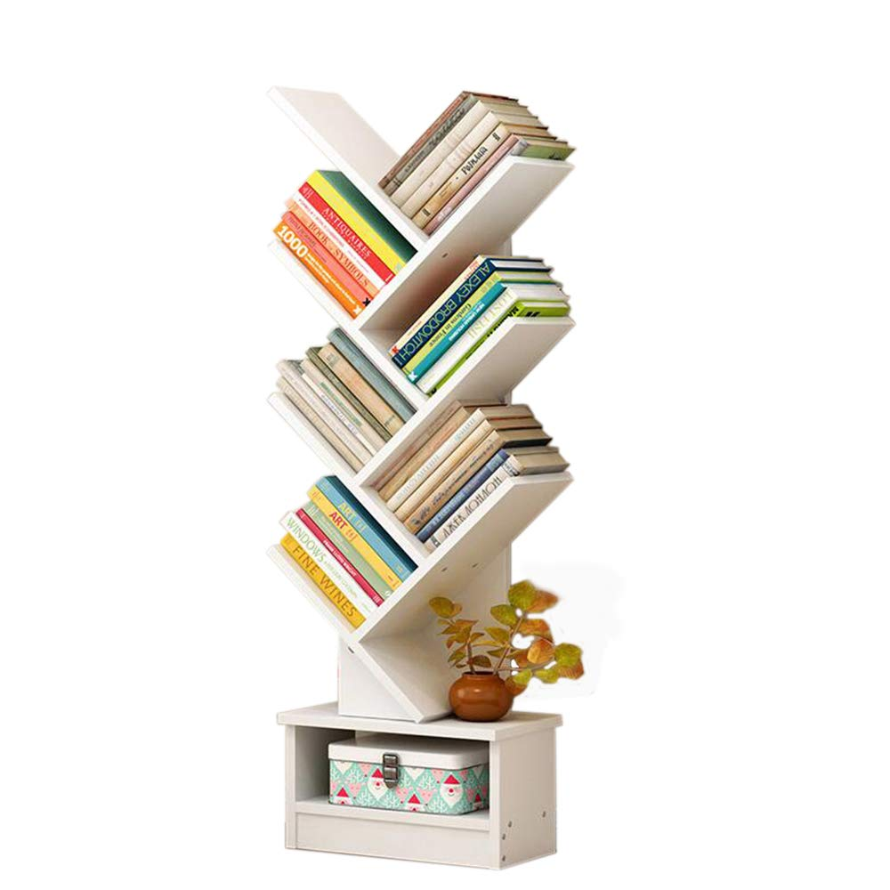 Jcnfa-Shelves Book Shelf Tree Frame Floor Stand Vertical Books Multi-Color Optional Save Space (Color : A1) by Jcnfa-Shelves