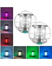 Eletorot Flotteur de piscine , lumière flottante résistante à l'eau forme ronde changement 7 couleurs le jardin la pelouse le jardin le patio 2 pcs