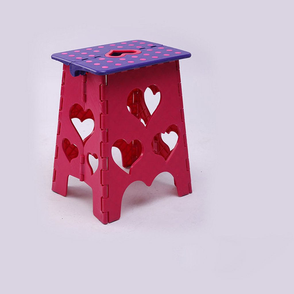 Duzhengzhou Non Slip Folding Step Stool For Kids And Adults With Handle (Color : 5)