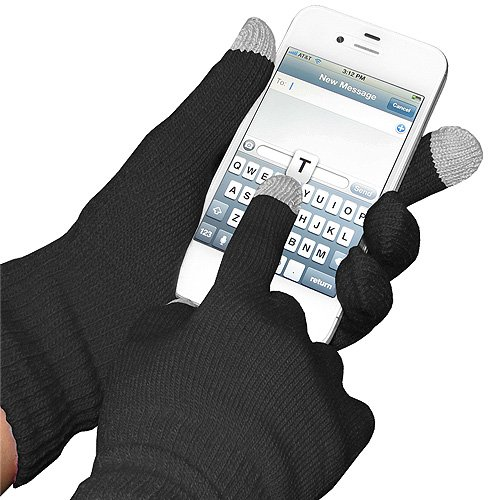 Amazon Lightning Deal 89% claimed: Amzer AMZ92804 Capacitive Touch Screen Knit Gloves (Black)