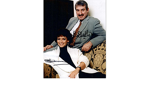 John Challis /& Sue Holderness Signed Autographed Only Fools and Horses Glossy 8x10 Photo